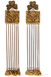 Chloé Maddie hammered gold-tone earrings