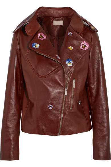 Christopher kane leather jacket