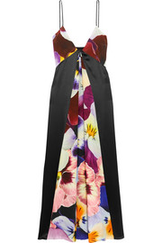 Christopher Kane Floral-print silk crepe de chine midi dress