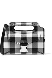 Christopher Kane Gingham textured-leather shoulder bag