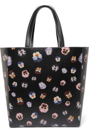 Christopher Kane Daley floral-print textured-leather tote