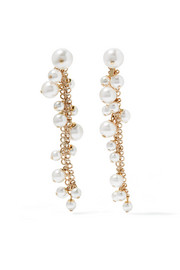 Lanvin Gold-plated faux pearl earrings
