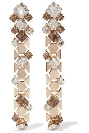 Gold-tone Swarovski crystal earrings