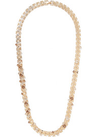 Lanvin Gold-tone crystal necklace