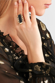 Lanvin Gold-tone, Swarovski crystal and resin ring