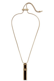 Lanvin Gold-tone, Swarovski crystal and resin necklace