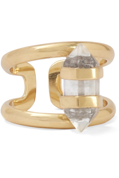 Cornelia Webb - Charmed Gold-plated Quartz Ring