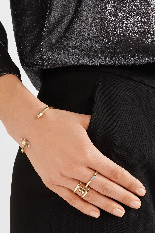Cornelia Webb Charmed gold-plated quartz ring