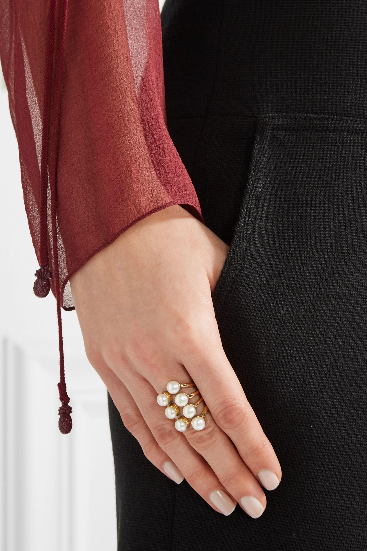 Cornelia Webb Gold-plated pearl ring