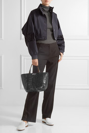 Elizabeth and James Eloise croc-effect leather tote