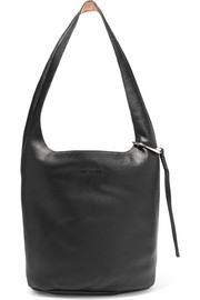 Elizabeth and James Finley Courier textured-leather shoulder bag