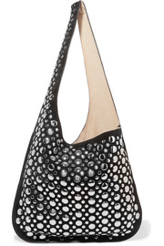Elizabeth and James Finley studded suede shoulder bag