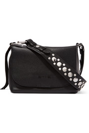 Elizabeth and James Finley studded textured-leather shoulder bag