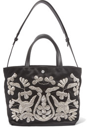Eloise zardozi-embroidered satin tote