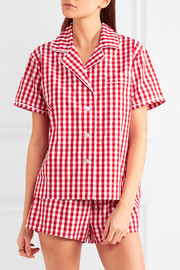 Corita and Paloma gingham cotton pajama set