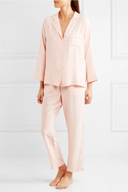 Marina silk-charmeuse pajama set