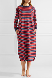 Nina striped cotton nightdress