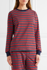 Stevie striped cotton pajama top