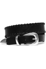 McKenzie whipstitched leather belt