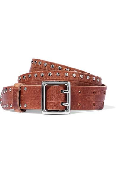 rag & bone - Willow Studded Leather Belt - Light brown