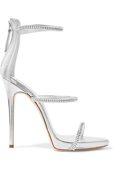 Giuseppe Zanotti Swarovski Crystal Embellished Leather Sandals TeBj0q