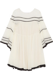 Chloé Striped silk-crepon mini dress