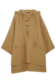 Iconic hooded wool-blend cape