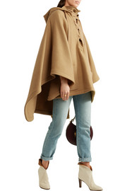 Chloé Iconic hooded wool-blend cape