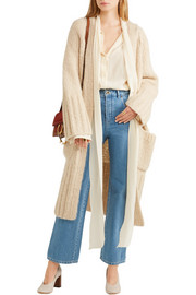 Chloé Scalloped high-rise flared jeans