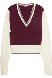 Chloé Two-tone cashmere sweater