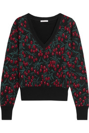 Chloé Wool-blend jacquard sweater