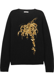 Chloé Embellished wool and cashmere blend sweater