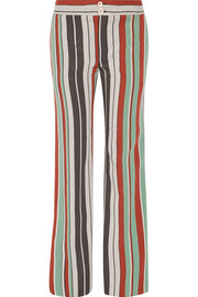 Chloé Striped cotton-blend twill wide-leg pants