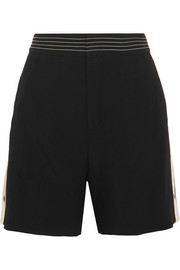 Chloé Canvas-trimmed crepe shorts