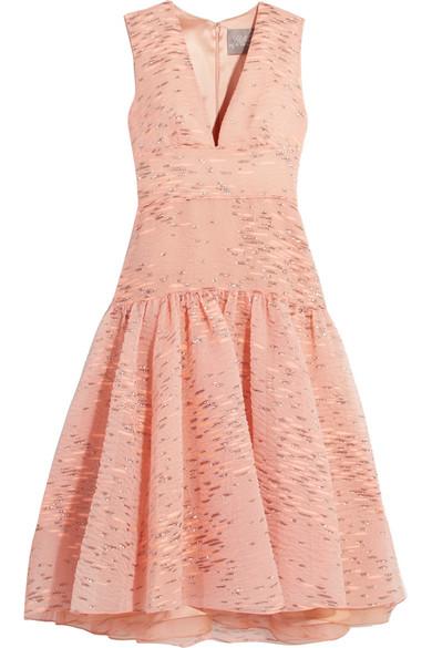 Lela Rose - Fil Coupé Organza Dress - Blush