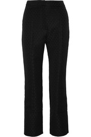 Erdem Verity jacquard straight-leg pants