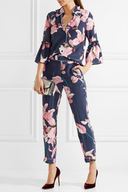 Giulia cropped floral-print tapered pants
