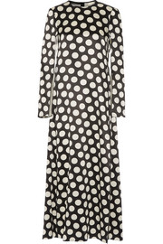 Calvin Klein Collection Polka-dot satin maxi dress