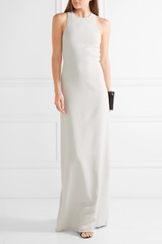 Calvin Klein Collection Open-back stretch-cady gown