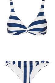 The Jane striped triangle bikini