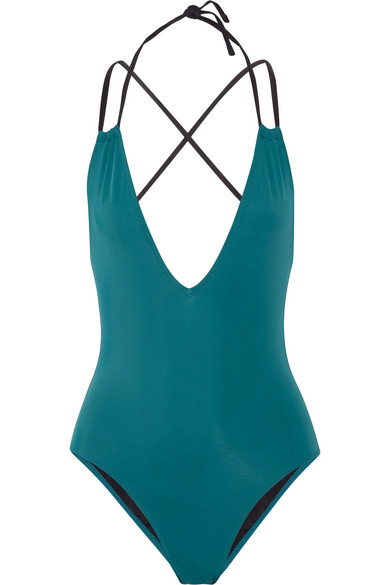 Solid and Striped - The Alexandra Halterneck Swimsuit - Jade