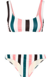 The Elle striped bikini