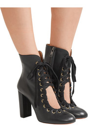 Chloé Lace-up leather ankle boots