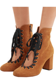 Chloé Suede lace-up boots