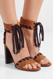 Chloé Whipstitched suede sandals