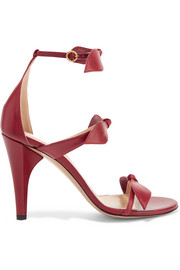 Chloé Bow-embellished leather sandals