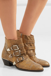 Chloé Susanna studded watersnake ankle boots