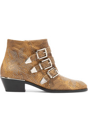Susanna studded watersnake ankle boots