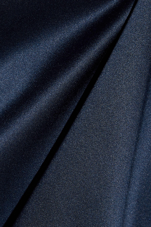 Tibi Asymmetric silk-satin blouse