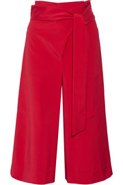 Tibi Cropped stretch-faille wide-leg pants
